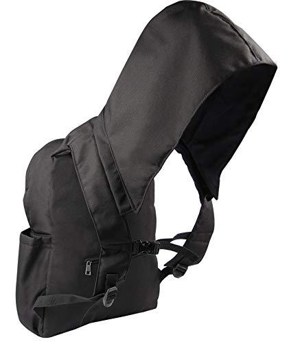 Bilbag Self-Healing Waterproof Removable Hooded Nano Tech Backpack! (Black)