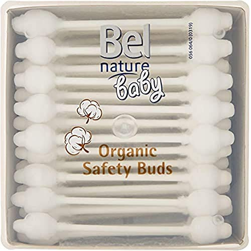 Bel Nature 56 Batônnets Bio Sécurité Bébé, Blanc, 12 Unités
