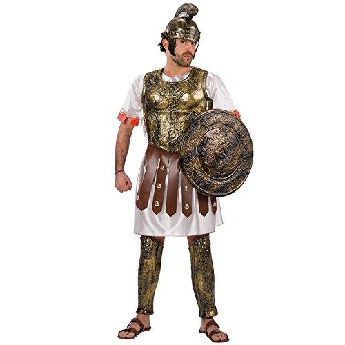 Carnival Toys 80410 - Römischer Krieger, Herrenkostüm Mit Helm, Brustpanzer und Beinprotektoren, Universal M, L