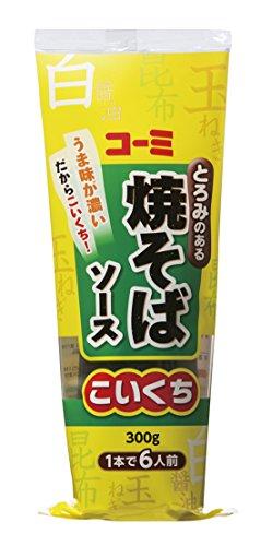 コーミ 焼そばソース(こいくち)チューブ 300g×4本