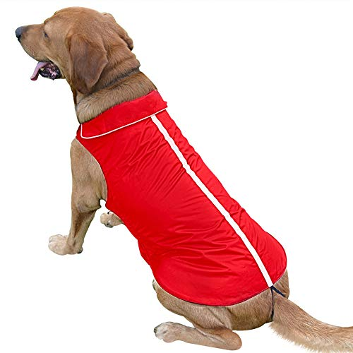 PETCEE Small Dog Jackets for Cold Weather,Waterproof Dog Fleece for Small Dogs,Red