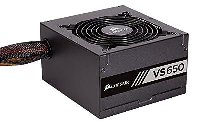 Corsair VS650 650 W Active PFC 80 PLUS Certified Power Supply Unit - Black