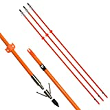 NIKA ARCHERY Bowfishing Arrows 32' Fish Hunting Solid Fiberglass Shaft for All Bows, Pack of 3