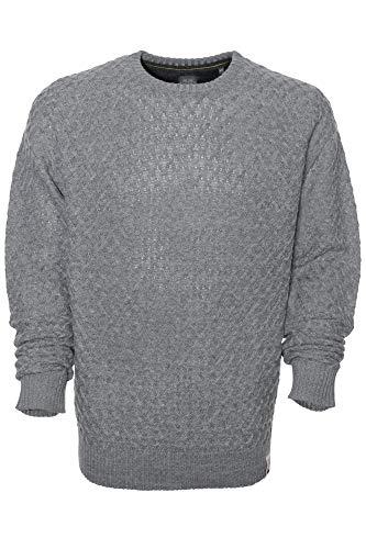 Kitaro Pullover Strick Pulli Zopfmuster Herren Wolle Langarm Extra Lang Tall, Farbe:Grau, Herrengrößen:XXT