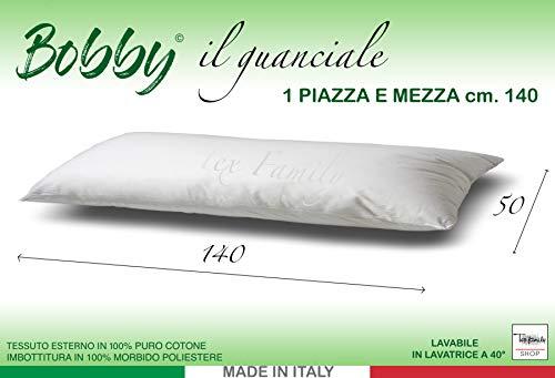 cuscino 1 piazza e mezza Tex family GUANCIALE Bobby Cuscino Letto 1 Piazza E Mezza Lungo cm. 140 Mis. CM. 50 X 140