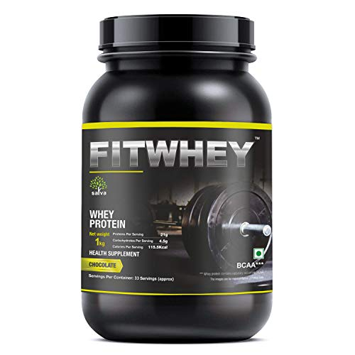 FITWHEY Satva Biotech's Whey Protein Powder Concentrate Protein Powder Supplement for Men and Women (Chocolate, 1 kg, 25-30 Serving)