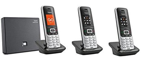 Gigaset S850A GO TRIO Set mit Anrufbeantworter + 2 weiteren Mobilteilen, analog / VoIP Festnetz DECT Handy