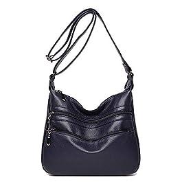Coolives Sac portés Bandoulière pour Femme Sac a épaule Casual Sac Messenger Loisir Bleu