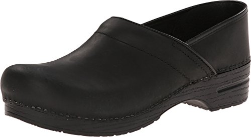 Dansko Women's Professional Black Oiled Clog 7.5-8 M US