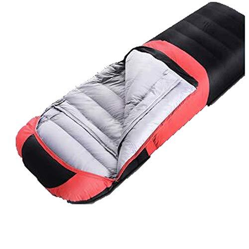 LYLY Saco de dormir impermeable para adultos, protección contra el frío, para interiores y exteriores, senderismo, camping, viaje, picnic, color rojo, tamaño: 2,7 kg