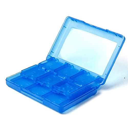 28 en 1 Juego Tarjeta Caja cuadro titular Cartucho para Nintendo 3DS Juegos Vedio (azul)