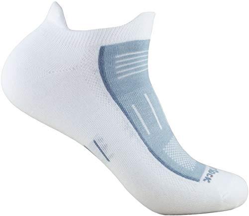Wrightsock Profi Sportsocke Sneakers Low Tab -anti-blasen-system- in weiss-grau - Socken Größe M