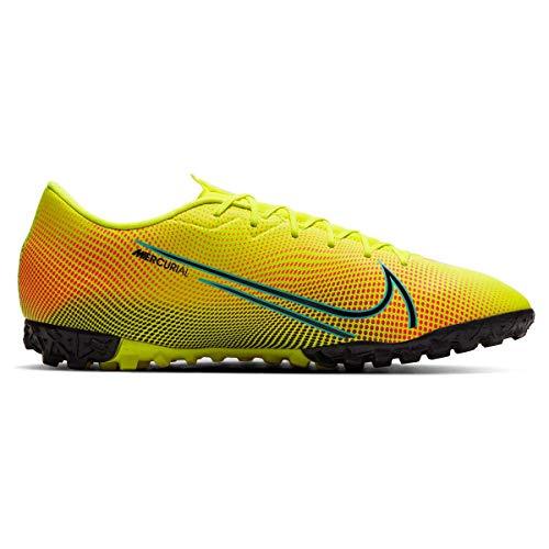 Nike Vapor 13 Academy MDS TF, Zapatillas de fútbol para Hombre, Lemon Venom Black Aurora-Botas de esquí, Color Verde y Negro, 40.5 EU