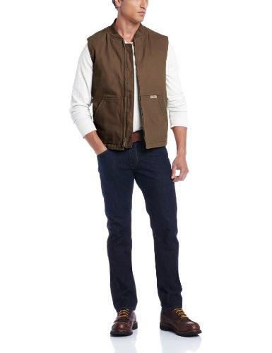 Wolverine Men's Finley Cotton Duck Insulated Vest, Bison, XX-Large