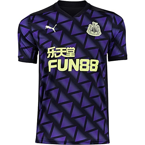 PUMA Mens Newcastle United Third Shirt 2020 2021 Domestic Jersey dryCELL Purple/Black L