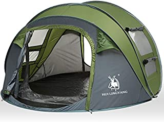 HUI LINGYANG 4 Person Easy Pop Up Tent-Automatic Setup...