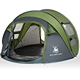 HUI LINGYANG 4 Person Easy Pop Up Tent-Automatic Setup Sun Shelter for Beach- Instant Family Tents...