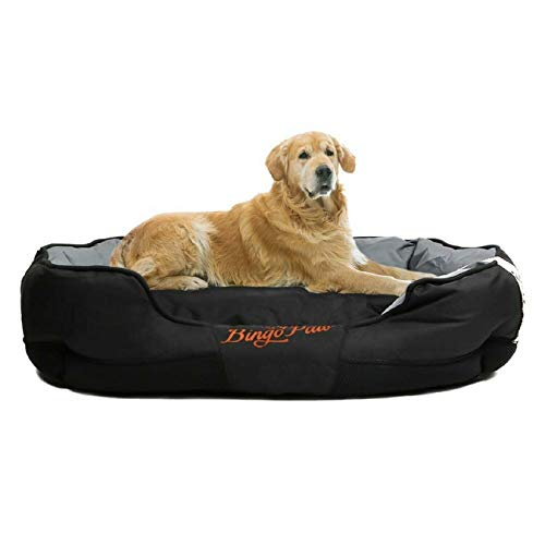 Bingopaw Heavy Duty Pet Dog Cushion Bed, Big Dog Washable Soft Foam Waterproof Mattress Basket Bed Sofa Pad Mat