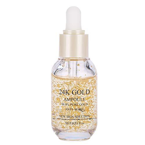 24k Gold Serum, Face Moisturizing Skin Essence Anti-age Anti Wrinkle Serum Facial, Whitening & Moisturizing for Women Face Skin Care