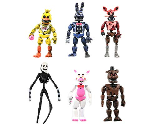 Dondonmin Anime Cartoon Five Nights at Freddy'S PVC Figura de Acción Juguetes Juego Personajes Muñecas Regalo 6 Unids / Set