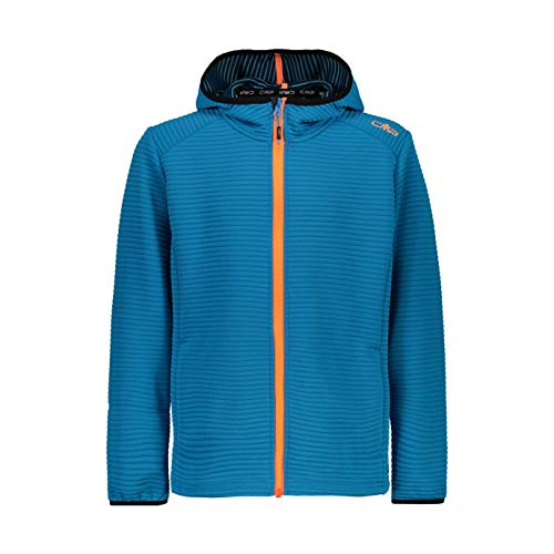 CMP Jungen Technical Jacquard Fleece Jacket Jacke, Blue Teal, 140