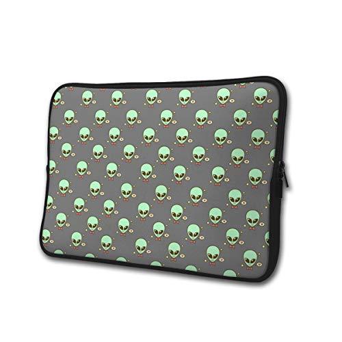 Yongchuang Feng Cute Alien Sleeve Laptop Bag Tablet Case Handbag Notebook Messenger Bag for Ipad Air MacBook Pro Computer Ultrabook 13-15 Inches