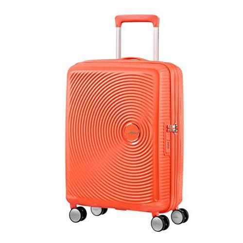 AMERICAN TOURISTER Soundbox - Spinner S Espandibile Bagaglio a Mano, Spinner S (55 cm - 41 L), Arancione (Spicy Peach)