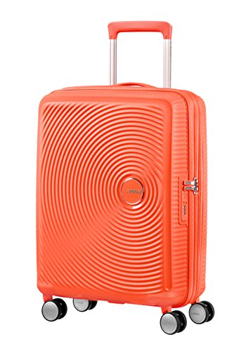 American Tourister Soundbox - Spinner S Erweiterbar Handgepäck, 55 cm, 41 L, Orange (Spicy Peach)
