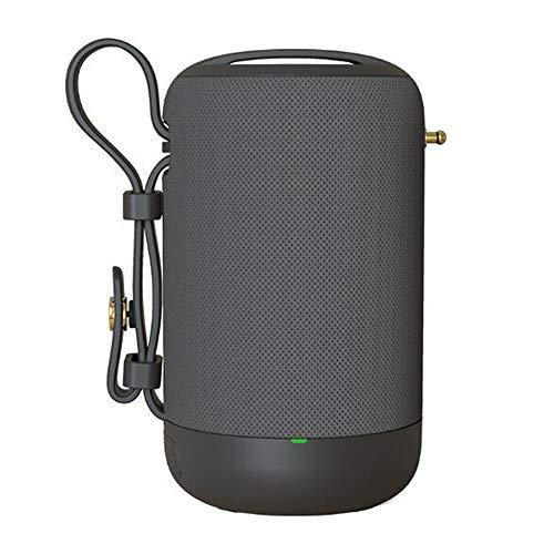 Altavoz Bluetooth, Altavoz Impermeable Sin Hilos De Llamada Reproductor De Audio Portátil Radio Subwoofer Sonido De Alta Fidelidad De Manos Libres, Inicio Alquiler De Recorrido Al Aire Libre,Gris