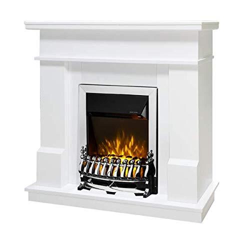 Art Flame, Chimenea eléctrica Rodos y Galileo Silver, Control Remoto, Calefacción de superficie 20 m²