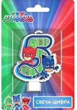 PJM Candle On A Cake Topper 5 Years Owlette Catboy Must Have Accessories For The Party Supplies And Birthday