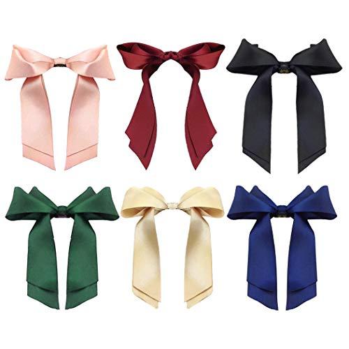 Fascigirl Haarschleife, Elastische Haargummis Haarband Haar Seil Band Bogen Pferdeschwanz Inhaber Schleife Haarbänder für Damen