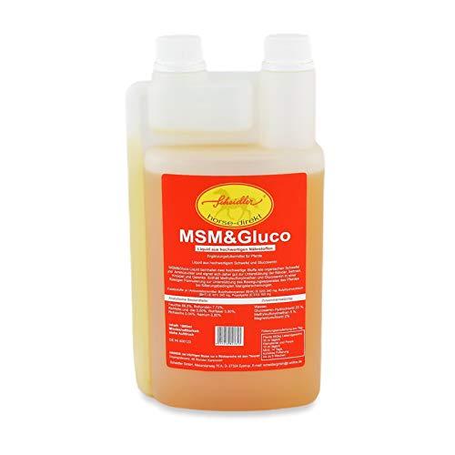 Scheidler horse-direkt MSM & Glucosamin Liquid 1 Liter Dosierflasche - Für Pferde und Ponys