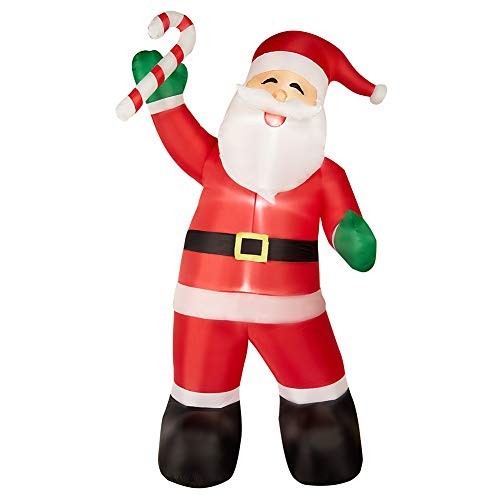 SUPERJARE 8 FT Christmas Inflatable Santa Claus with Candy, Christmas Decoration with LED Light, Animated for Yard Party Lawn, Indoor & Outdoor