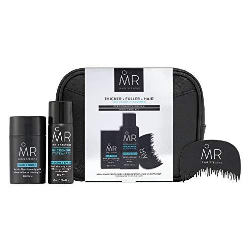 MR. Haarpflege-Set für Herren, zum Ausdünnen von kahlen Haaren und Haarausfall-Behandlung, Braun