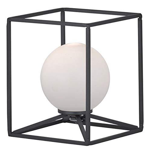 Preisvergleich Produktbild Reality Leuchten Gabbia R50401032 Tischleuchte,  Metall Schwarz Matt,  Acryl Weiß