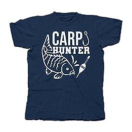 GC Merch Carp Hunter Fishing T-shirt de pêche unisexe Coupe décontractée
