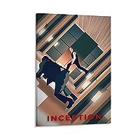 インセプション映画アートポスタークラシックフラグメントカバー3 クール ポスター 壁アート キャンバス 印刷 アートパネル オフィス装飾 ぶら下がる 版画 ギフト12×18inch(30×45cm)