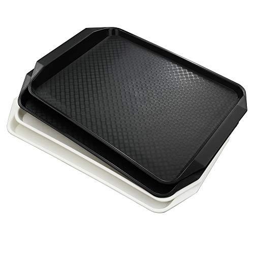 bblie–Bandeja rectangular antideslizante bandejas de comida rápida, juego de 4