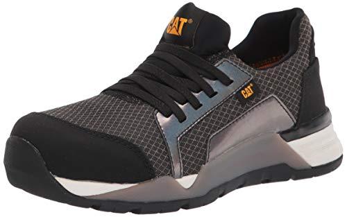 Caterpillar womens Sprint Textile Alloy Toe Sneaker, Black, 9 US