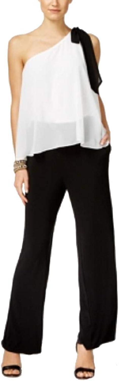 Inc International Concepts Petite colorblocked OneShoulder Jumpsuit