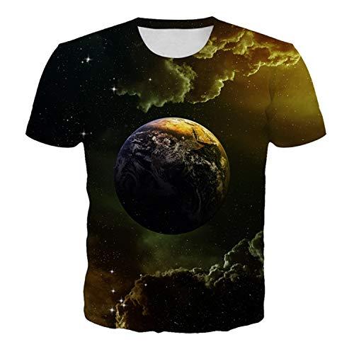 WLZQ 2020 New Cosmic Planet Galaxy Space 3D Digitaldruck Kurzarm T-Shirt Herren