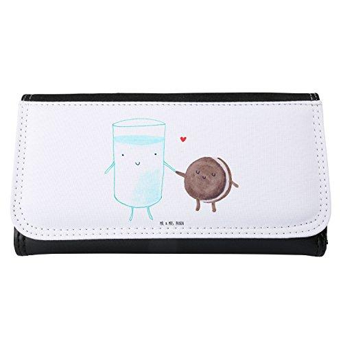 Mr. & Mrs. Panda XXL, Geldbörse, Damen Portemonnaie Milch & Keks - Farbe Weiß