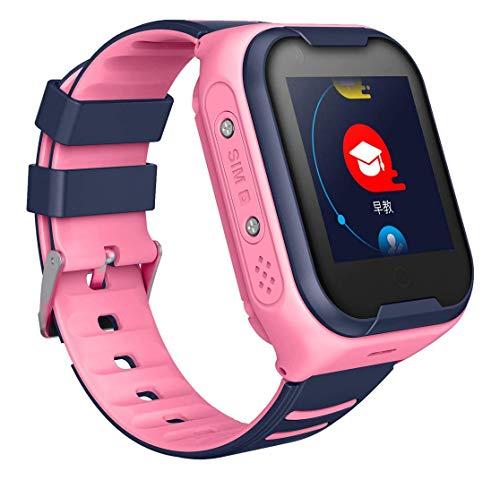 LNLJ - Reloj inteligente 4G para niños, impermeable, GPS, con video, chat de voz y pago SOS despertador, regalo perfecto para niños y niñas, color rosa
