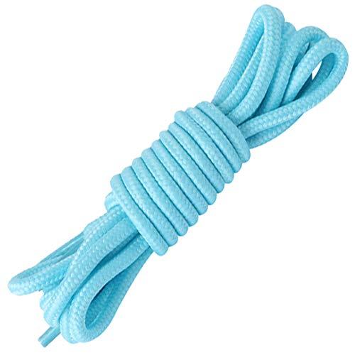 Jamron 4mm Breit Polyester Runden Schnürsenkel für Turnschuhe Stiefel Abendschuhe Länge-120cm Hellblau