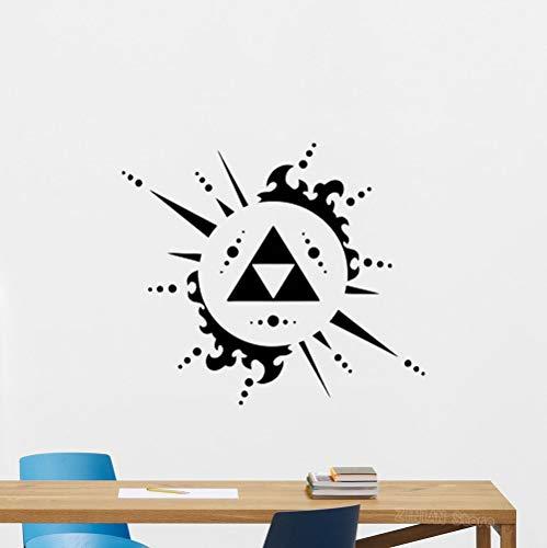 zzlfn3lv Legend of Zelda Triforce Wandtattoo Videospiel Vinyl Aufkleber Dekor Poster Abstrakte Abnehmbare Wandaufkleber Wohnzimmer 47 * 42 cm