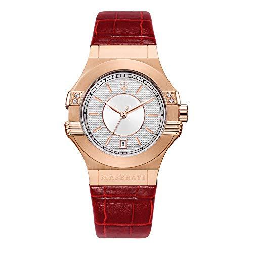 Reloj para Mujer, Colección Potenza, Movimiento de Cuarzo, Solo Tiempo con Fecha, en Acero y Cuero - R8851108501