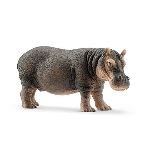 SCHLEICH Wild Life, Animal Figurine, Animal Toys for Boys and Girls 3-8 Years Old, Hippopotamus