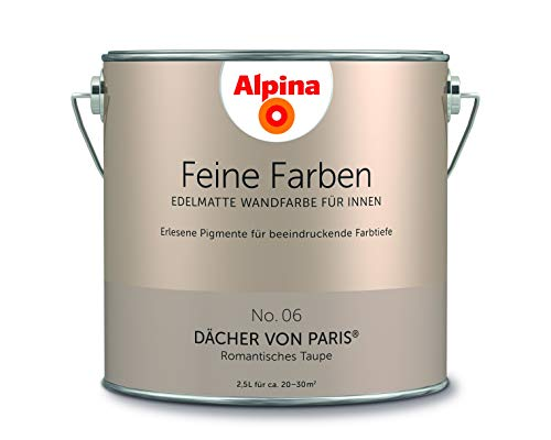 Alpina 2,5 L. Feine Farben, Farbwahl, Edelmatte Wandfarbe für Innen (No.6 Dächer von Paris - Romanti