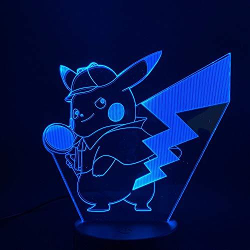 Juego de diseño de arte único ambiente de animación de dibujos animados USB 3d LED luz de noche lámpara de mesa colección de regalo